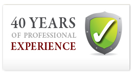 40 yearrs of professional experience